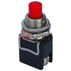 Кнопка PBS-13C без фиксации ON-(OFF) TCOM, 2-х контактный, 4А, 250V, красная