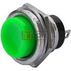 Кнопка большая PBS-26B без фиксации OFF-(ON) TCOM, 2pin, 2А, 250V, зелёная