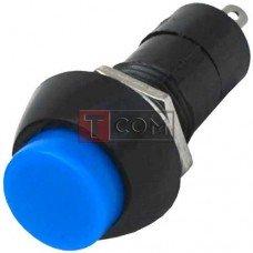 Кнопка средняя PBS-11В без фиксации OFF-(ON) TCOM, 2pin, 1А, 250V, синяя