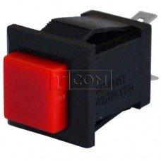 Кнопка квадратная PBS-15C без фиксации ON-(OFF) TCOM, 2pin, 1А, 250V, красная