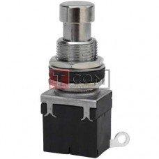 Кнопка металлическая PBS-24-102 с фиксацией ON-ON TCOM, 3-х контактная, 2А, 250V