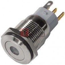 Кнопка антивандальная 16мм TCOM, без фиксации, 5pin, 12V, с подсветкой
