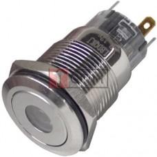 Кнопка антивандальная 19мм TCOM, без фиксации, 5pin, 12V, с подсветкой