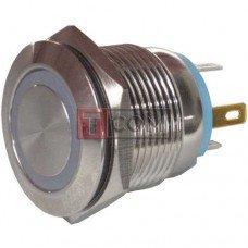 Кнопка антивандальная 19мм TCOM, без фиксации, 4pin, 12V, с подсветкой