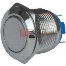 Кнопка антивандальная 19мм TCOM, без фиксации, 220V, выводы под пайку