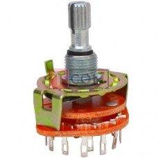 Переключатель галетный RBS-1, 2-12ways, 1-6poles, 0.3A, 250VAC TCOM