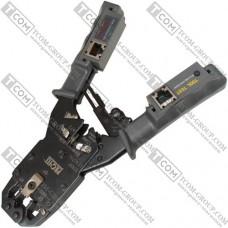 Инструмент Profix HS-2008ACR для обжима 8p8c, 6p6c, 4p4c + тестер кабельный
