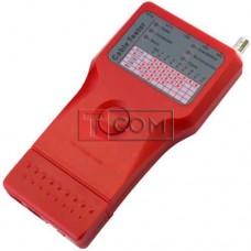 Kабельный тестер мультифункциональный TCOM, 5 в 1 (RJ-11, RJ-45, BNC, USB, 1394)