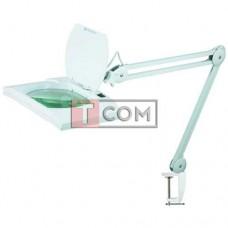 Лупа-лампа на струбцине Bourya 8069, LED подсветка (56SMD), 5X, Ø190x157мм