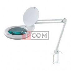 Лупа-лампа на струбцине Bourya 8062D3, LED подсветка (84SMD), 5Х, Ø180мм