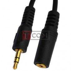 Переходник TCOM, штекер 3.5стерео - гнездо 2.5 стерео, пластик gold, кабель 0.3м