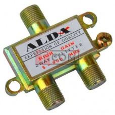Сплиттер (Splitter) ТВ Alda, 2-way, корпус металлический