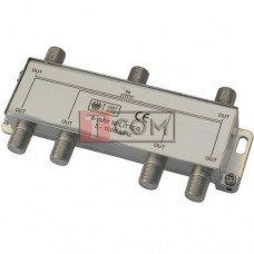 Сплиттер (Splitter) ТВ TCOM, 6-way 5-1000MHZ, корпус металлический