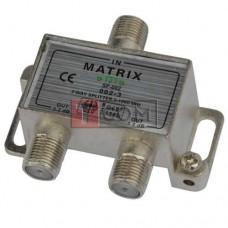 Сплиттер (Splitter) ТВ TCOM, 2-way + 3 разьема F, в картонной упаковке HQ