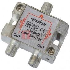 Сплиттер (Splitter) ТВ TCOM, 2-way 5-2400MHZ, с проходом питания, корпус металлический