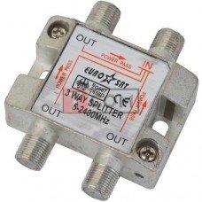 Сплиттер (Splitter) ТВ TCOM, 3-way 5-2400MHZ, с проходом питания, корпус металлический