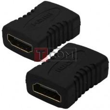 Переходник TCOM, гнездо HDMI - гнездо HDMI, gold, пластик