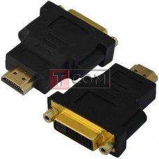 Переходник TCOM, гнездо DVI(24+1) - штекер HDMI, gold, пластик