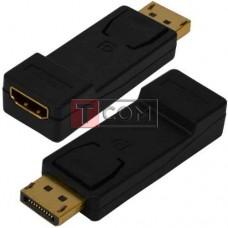Переходник TCOM, штекер Display Port - гнездо HDMI, корпус пластик