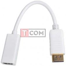 Переходник TCOM, штекер Display Port - гнездо HDMI, с кабелем