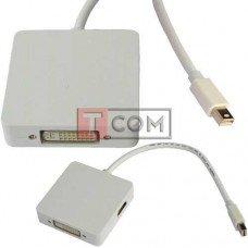 Переходник TCOM, штекер mini Display Port - Digi-Port (HDMI, DVI, Display Port)