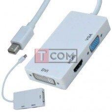 Переходник TCOM, универсальный (штекер mini Display Port - HDMI, DVI, VGA)