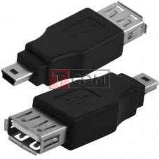Переходник TCOM, гнездо USB A - штекер mini USB 5pin