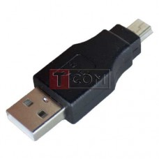 Переходник штекер USB A - штекер mini USB 5pin