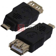 Переходник TCOM, гнездо USB A - штекер micro USB
