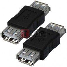 Переходник USB TCOM, гнездо А - гнездо А