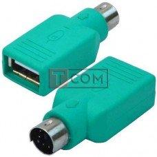Переходник TCOM, штекер mini din 6pin - гнездо USB (тип А)