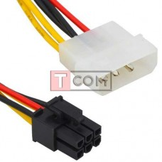 Кабель питания для видеокарт TCOM (6pin- PCI-E), длина 15см
