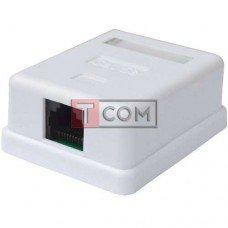 Телефонная розетка х1 (8P8C) TCOM, 5-ой категории, наружная, на липучке