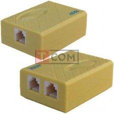 Сплиттер ADSL TCOM (1 гнездо телефонной линии + 1 гнездо модем), бежевый