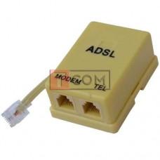 Сплиттер ADSL TCOM с телефонным кабелем 0,2метра