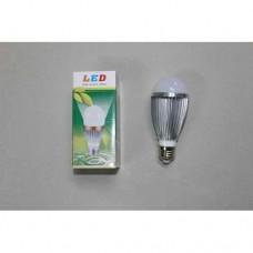 Лампочка светодиодная 220В, 9Вт, Е27, алюминиевый корпус, натуральный свет