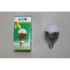 Лампочка светодиодная, 220В, 12Вт, Е27, алюминиевый корпус, натуральный свет