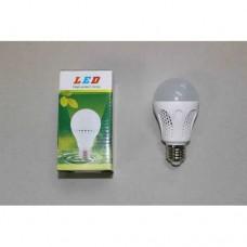 Лампочка светодиодная, 220В, 5Вт, Е27, алюминиевый корпус, натуральный свет
