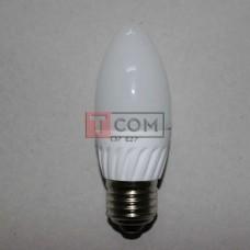 Лампочка светодиодная 220В, 5Вт, Е27, 6500K, холодный свет, Ø37мм