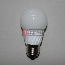 Лампочка светодиодная 220В, 5Вт, Е27, 6500K, холодный свет, Ø50мм