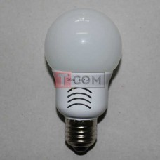 Лампочка светодиодная 220В, 5Вт, Е27, 3000K, тёплый свет, Ø60мм