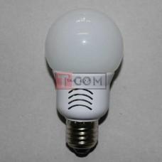 Лампочка светодиодная 220В, 5Вт, Е27, 6500K, холодный свет, Ø60мм