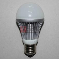 Лампочка светодиодная 220В, 7Вт, Е27, 6500K, холодный свет, Ø60мм