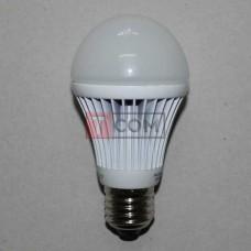 Лампочка светодиодная 220В, 9Вт, Е27, 3000K, тёплый свет, Ø60мм