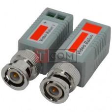 Одноканальный пассивный видео трансивер TCOM для CCTV камер видеонаблюдения, 2шт (Тип 1)