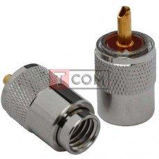 Штекер UHF TCOM, под кабель (RG-11), накрутка, латунь