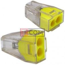 Экспресс-клемма для распределительных коробок WAGO 773-322 на 2 проводника, 220В, 25А, 1-2.5 мм²