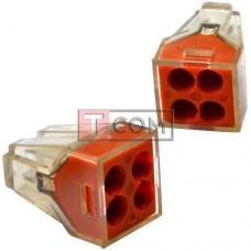 Экспресс-клемма для распределительных коробок WAGO 773-324 на 4 проводника, 220В, 25А, 1-2.5 мм²