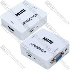 Конвертер MINI, HDMI в VGA (HDMI (IN)-VGA (OUT))