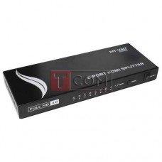 Сплиттер HDMI 1x8 MT-VIKI (1080p, 4K*2K, 165MHz, версия 1.4), DC-5V
